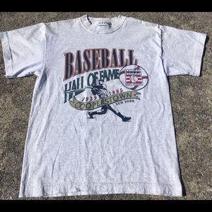 Vintage 1995 Baseball Hall of Fame Tee Shirt Med